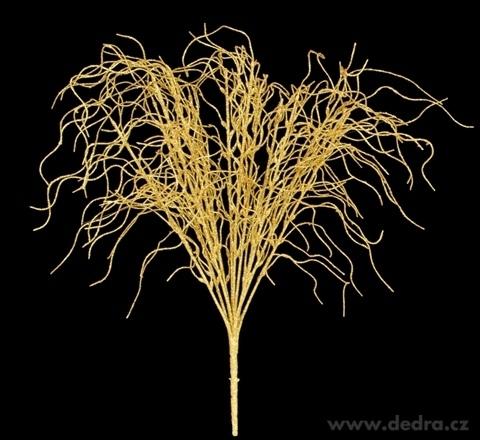 DA98551-Zväzok vŕbových vetvičiek dĺžka cca 47 cm zlatý