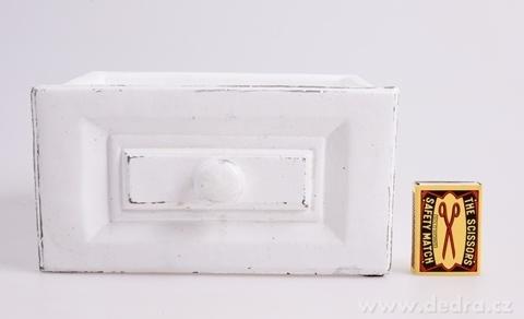 DA97931-Kameninový obal na kvetináč obdĺžnikový, biely