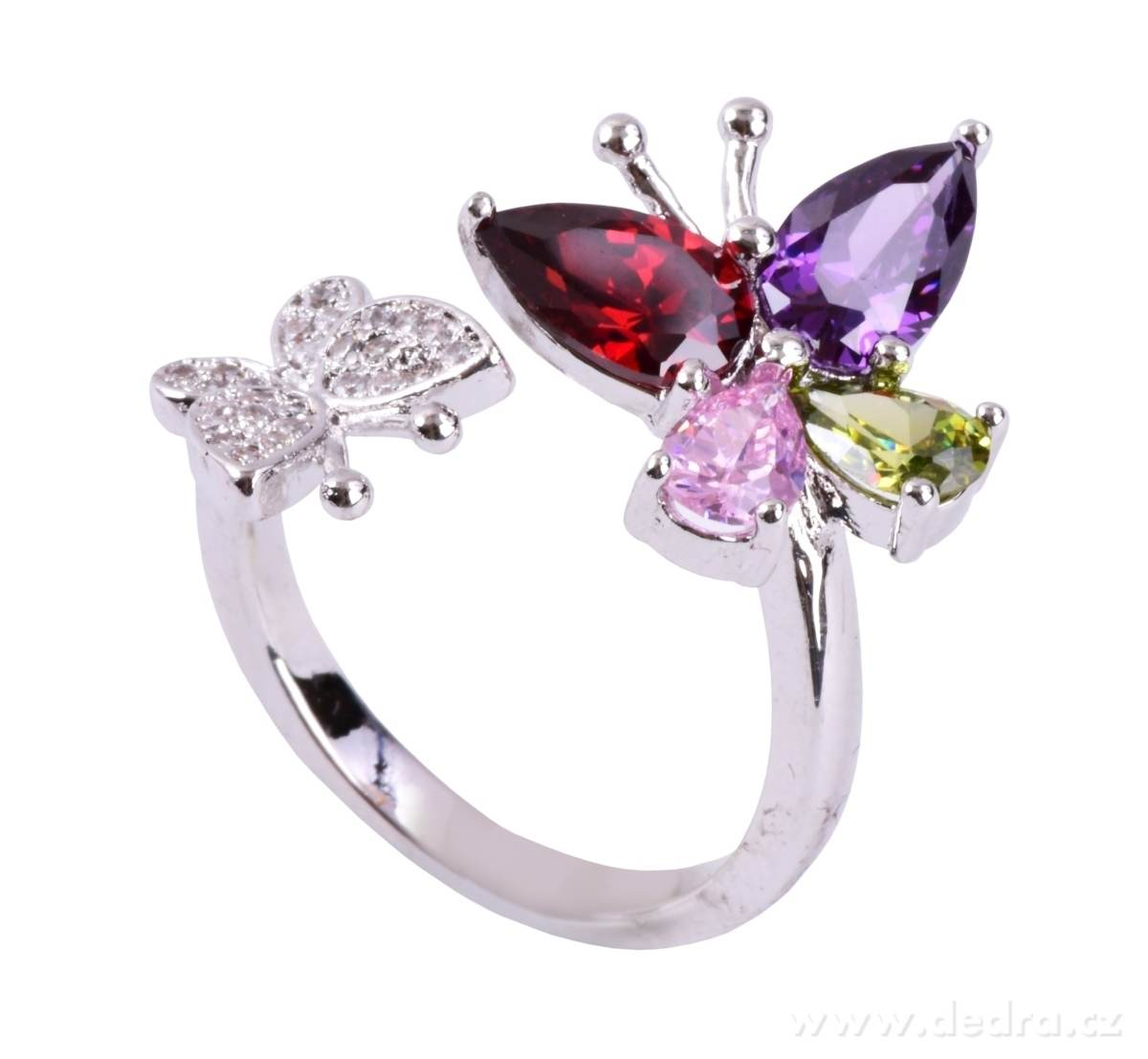 5736e0703 Prsten se zirkony rhodiováno - Vaše DEDRA - oficiálne stránky