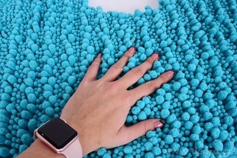 FC20566-3D CORAL WC predložka tyrkysovo modrá