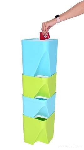 DA20602-TOTEMUS dizajnový kôš stohovateľný, mintovou