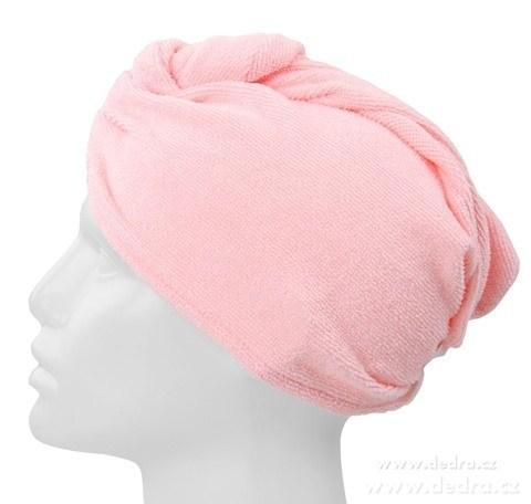 DA4677-2 ks turban na vysúšanie vlasov ružovo orgovánový