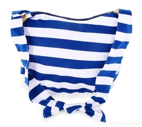 FC20924-STRIPES pruhovaná textilné kabelka blue & white