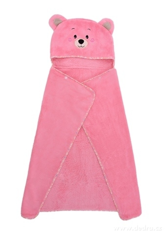 FC21223-MACKO detská osuška / pončo vel. L LAGOON TOUCH pink