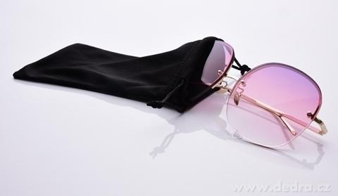 FC21522-Slnečné okuliare bardotka pink & gold