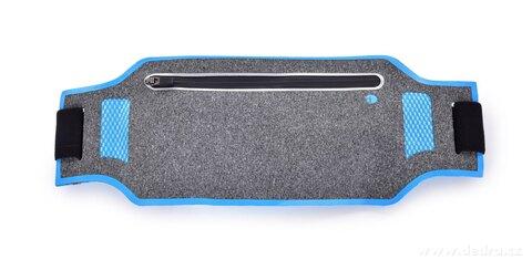 DA20842-Športové púzdro okolo pása UNIVERSAL SLIM elastické s vreckom na zips a reflexnými prvkami