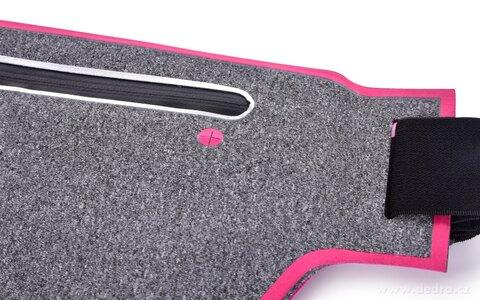 DA20841-Športové púzdro okolo pása UNIVERSAL SLIM elastické s vreckom na zips a reflexnými prvkami