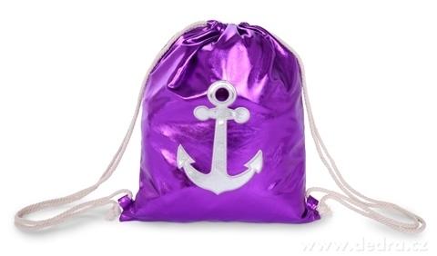 FC21973-METALIC BAG vrece na chrbát z lesklej ekokože purple