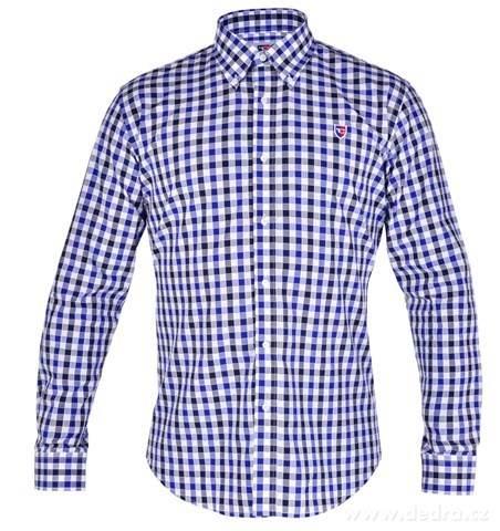 c2e8ae73826f FC2214M-KENT košeľa slim fit s dlhým rukávom black   marine caro