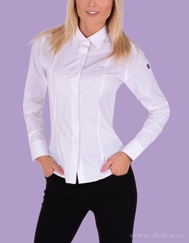 FC2232M-SOPHIA košeľa slim fit s dlhým rukávom white red dots