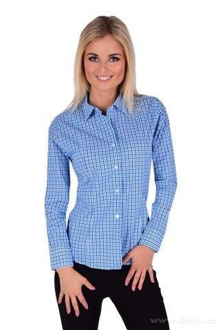 FC2230M-SOPHIA košeľa slim fit s dlhým rukávom blue caro