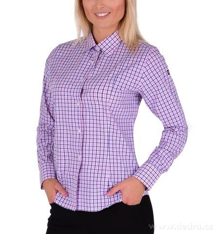 FC2228M-SOPHIA košeľa slim fit s dlhým rukávom blue & pink caro