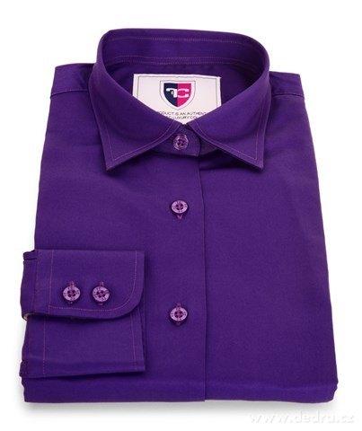 FC2226M-SOPHIA košeľa slim fit s dlhým rukávom dark violet