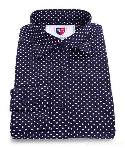 FC2234M-SOPHIA DENSEFORSÉ® košeľa slim fit s dlhým rukávom black white dots