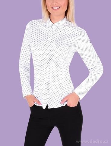 FC2233M-SOPHIA DENSEFORSÉ® košeľa slim fit s dlhým rukávom white black dots