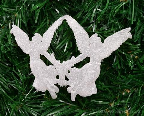 DA22454-Ľadová ozdoba dva anjelici