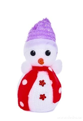 DA22733-Závesný pletený snehuliak s čiapočkou a šálom