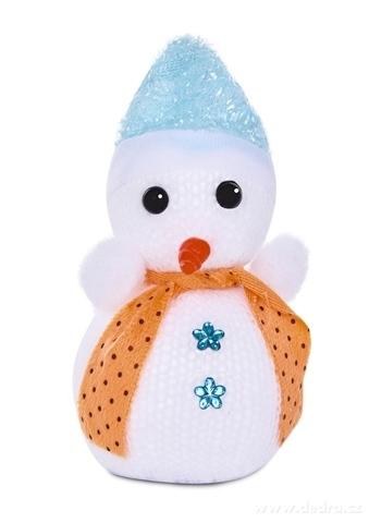 DA22731-Závesný pletený snehuliak s čiapočkou a šálom