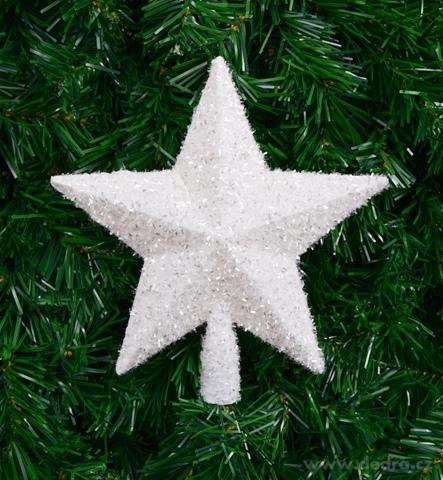 DA22702-Špica na vianočný stromček v tvare hviezdy