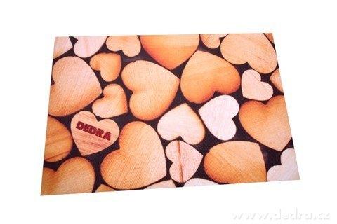 DA22857-DESIGNOVÉ PRESTIERANIE umývateľné s fotopotlačou drevená srdiečka