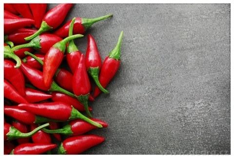 DA22854-DESIGNOVÉ PRESTIERANIE umývateľné s fotopotlačou chilli