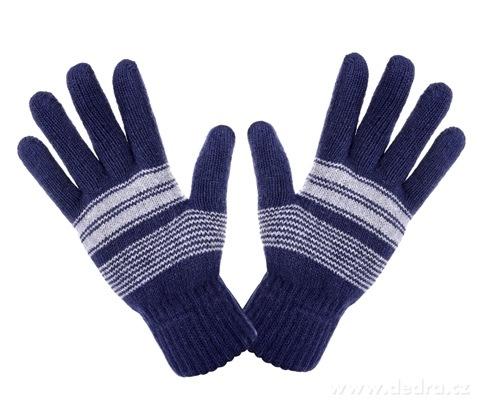 Pánské zimní pletené rukavice tmavě modré - Vaše DEDRA - oficiální ... c489e15483