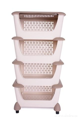 DA23052-4 poschodový regál pojazdný s hlbokými košmi a vrchným vekom