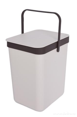 DA23031-Závesný odpadkový kôš 16 L s odklápacím vekom a uchom krémový