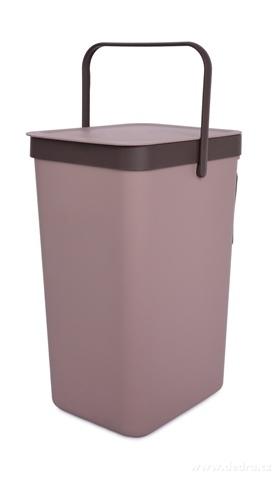 DA23022-Závesný odpadkový kôš 18 L s odklápacím vekom a uchom kávový