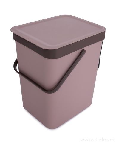 DA23021-Závesný odpadkový kôš 16 L s odklápacím vekom a uchom kávový