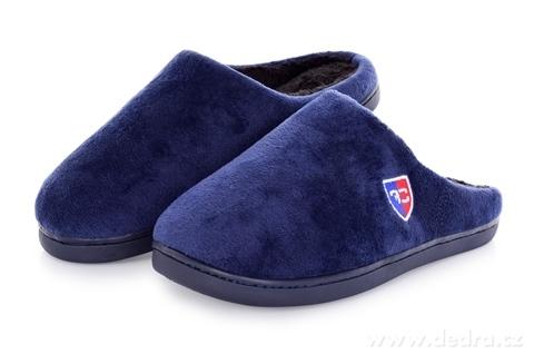 FC23281-Domáce papuče FC hrejivé kráľovsky modrej