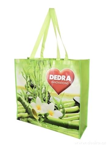 DA10064-Citybag DEDRA textilná taška s lesklou lamináciou