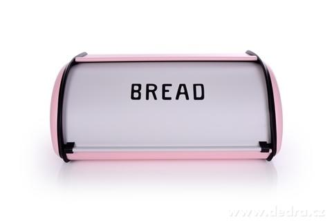 DA23353-Kovový chlebník BREAD ružový