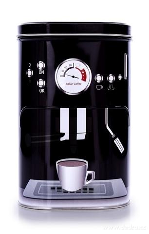 DA23412-Kovová oválna dóza s vrchnákom PRESSO COFFEE objem 1100 ml