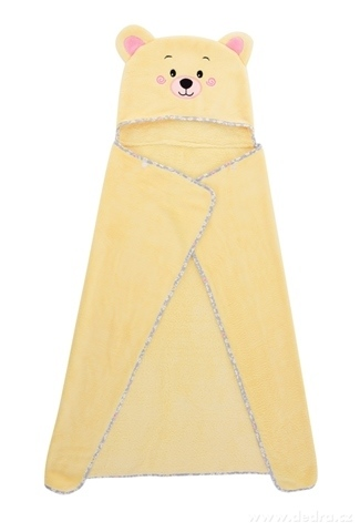 FC21225-MACKO detská osuška / pončo LAGOON TOUCH yellow