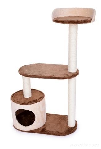 DA23804-Mačacie škrabadlo / prolézečka vo smotanovo čokoládovej farbe 100 cm