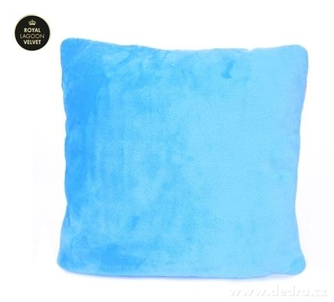 FC24028-ROYAL LAGOON VELVET poťah na vankúš blankytne modrý