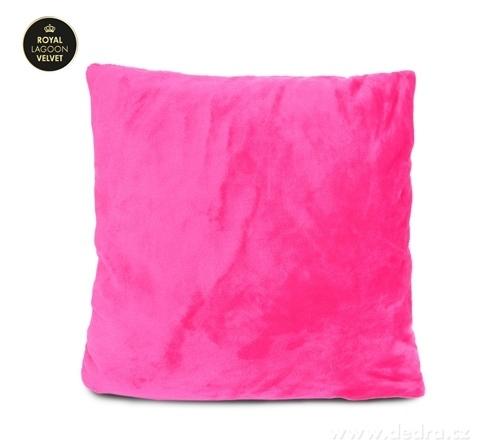 FC24026-ROYAL LAGOON VELVET poťah na vankúš purpurovo ružový