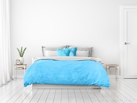 FC24018-XXL ROYAL LAGOON VELVET PREHOZ blankytne modrý