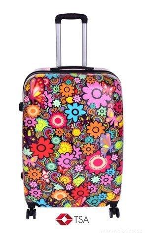 FC24283-TSA kufor veľký COLOR FLOWERS 50 x 30 x 70 cm