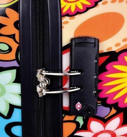 FC24281-TSA kufor menšie COLOR FLOWERS 37 x 23 x 50 cm
