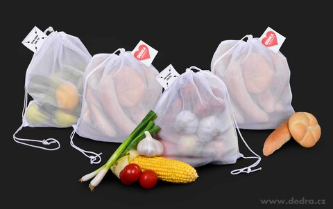 DA24251S-4ks EKOPYTLÍK na potraviny, pečivo, zeleninu a ovocie VÝHODNÁ SADA