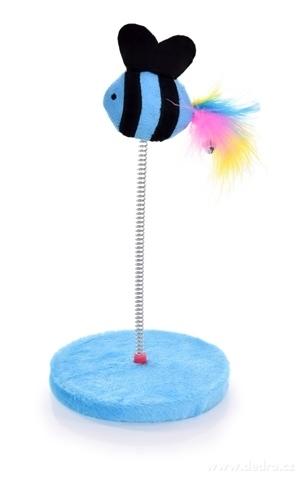 DA23813-Mačací hračka na pružnom perky modrá