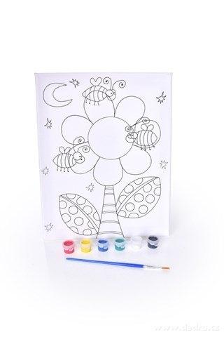 """DA24622-Obrázok """"vyfarbi si sám"""" kvetina"""
