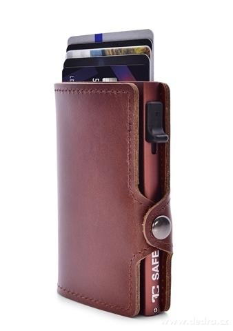 FC24643-FC SAFE kožená peňaženka pre ochranu platobných kariet brown caramel