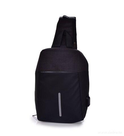 DA24921-CITY & WALKING pevný krížový batoh s USB pripojením