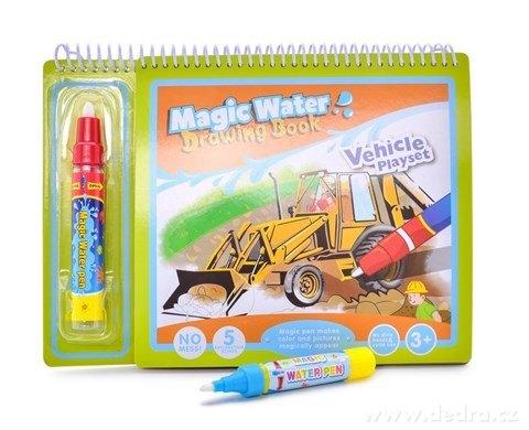 DA24166-VOZIDLA čarovná kresliace vodné knižka