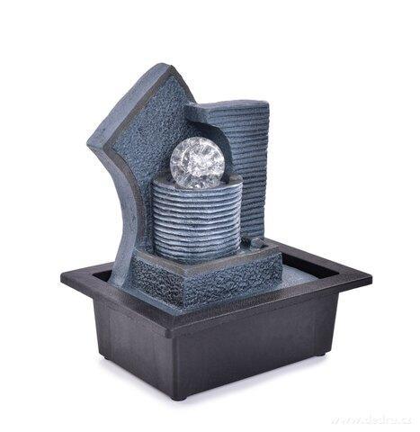 FC25101-Kaskáda sa zenovú guľou, izbová fontána s LED osvetlením