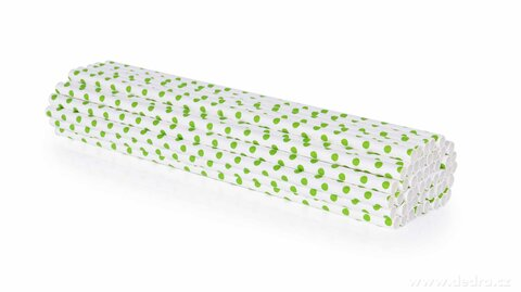 DA24594-50 ks EKOSLÁMKY papierové, jednorazové recyklovateľné a kompostovateľné