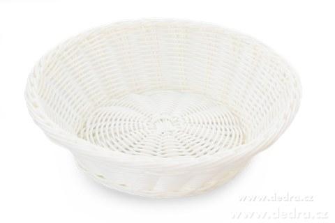 DA5567-Plastová ošatka na pečivo, ovocie, ... pr.:26 cm, v.: 7,5 cm